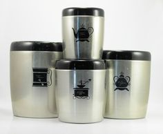 1950s Kitchen Canisters | Vintage 1950s West Bend Aluminum Nesting Kitchen Canister Set - Set of ...