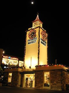 "Hollywood, Farmer's Market: Lets incorporate this tower w/the name ""Hollywood Farmer's Market"" and then add a few simple fruit stands if possible? We can play with it a bit"