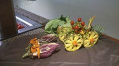 Carroza hecha con fruta y verdura