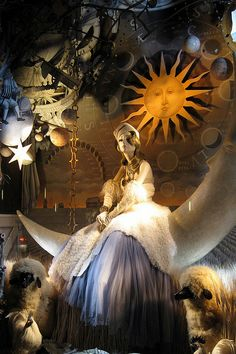 NYC: Bergdorf Goodman's 2008 Holiday window display - Calendar Girls - Autumn