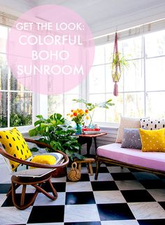 Get The Look: Colorful Boho Sunroom