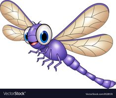 Cartoon funny dragonfly on leaf Royalty Free Vector Image Cartoon Images, Cute Cartoon, Tree Outline, Dragonfly Wall Art, Insect Crafts, The Family Stone, Cute Animal Drawings, Cute Images, Funny Cartoons
