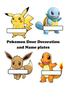 This pokemon download is bright and editable dcor set to coordinate with a Pokemon Go theme.  This set includes a  sign for your door that can be edited Look who we found in Preschool or Kindergarten The sign is editable and can be changed to any grade level.