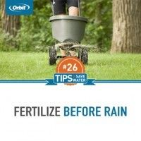 Fertilize before rain