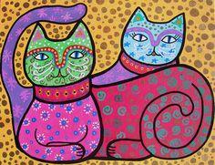 Talavera Cats - Pristine Cartera-Turkus