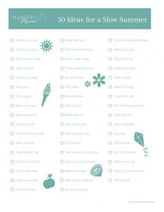 50 Slow Summer Fun Ideas To Help You Ban Busy - love these simple ideas from @Shawn O Fink | Abundant Mama #smartsummer