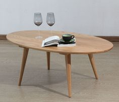 Magnus Oval Coffee Table Solid Oak 120x65x45cm Icon By Design