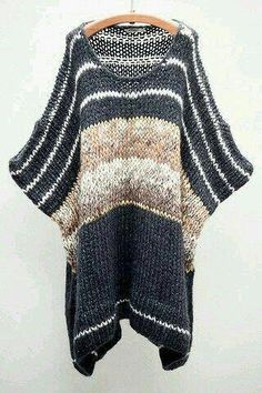Black Melinda Printed Poncho on Wanelo-- how would this look on? Knitting Yarn, Hand Knitting, Knitting Patterns, Knitting Machine, Knitted Cape, Crochet Poncho, Poncho Outfit, Cardigan Pattern, Knit Fashion