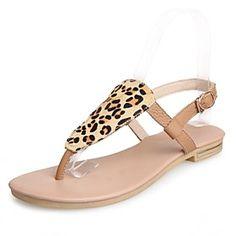 Women's Shoes Leather Flat Heel Comfort Sandals Outdoor/Casual Multi-color