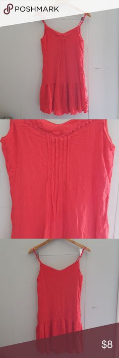 Coral bikini strap dress from Maurices Coral bikini strap dress from Maurices.  Size small. Maurices Dresses Mini