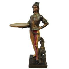 20th century hand carved wooden figure |  1900s