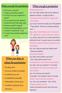How to ask for, grant and refuse permission in English
