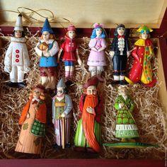 Купить Игрушки на ёлку набор по сказке Буратино - буратино, мальвина, пьеро, золотой ключик