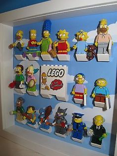 Professionally printed Lego Simpsons cloud Minifig figure Display Case Frame  www.brickloot.com