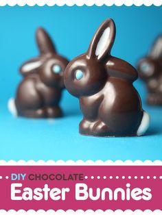 Los conejos de Pascua de chocolate