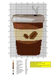 Cross Stitch ❄️♥❄️Verre plastic café