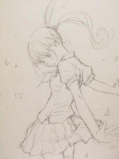 Twitter / EISAKUSAKU: 突然アニメっぽい構図が頭に浮かんだから描いてみた。 http ...