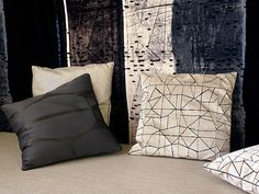 cushion bottom left: Ombre in shade Reglisse || Pierre Frey