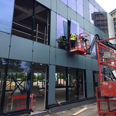 Cladding nearly complete at our commercial new build site at the Speke Estuary Park in Liverpool. Glazing going in this week and feature wall imminent! New Builds, Cladding, Plymouth, Liverpool, Sustainability, Commercial, Medical, Construction, Park