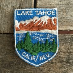 Lake Tahoe California/Nevada Vintage Travel Souvenir Patch by Voyaguer - New in Original Package by HeydayRoadTrip on Etsy
