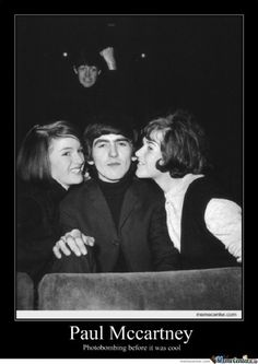 Paul McCartney's photobomb. Another reason to love him!!
