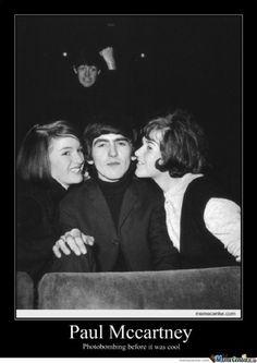 Paul McCartney's photobomb. Another reason to love him!!