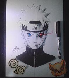 draw how to Anime Naruto, Naruto Uzumaki, Boruto, Naruto Art, Kakashi Sensei, Manga Anime, Sasunaru, Naruto Drawings Easy, Anime Drawings Sketches