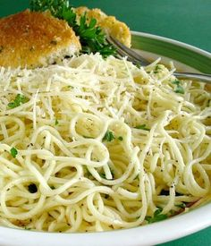 Garlic Angel Hair Pasta... I'm so hungry right now.