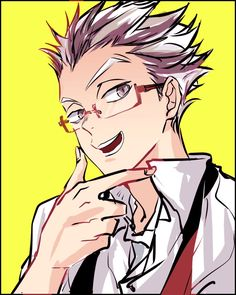 Bokuto with glasses