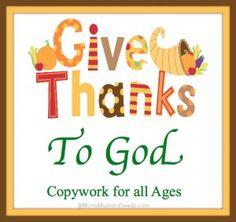 Thanksgiving Copywork/Handwriting - Thanksgiving Activities for Kids from www.HowToHomeschoolMyChild.com