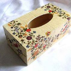 Tissue Boxes, Tissue Holders, Facial Tissue, Decoupage, Flora, Decorative Boxes, Pastel, Home Decor, Cake