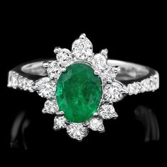 Exclusive Diamond 14k Gold emerald halo ring with SI clarity at wholesale price. Buy from Gemone Diamond without hesitation. Diamond Online Buy Now.