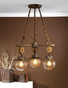 Fredeco Nautical Chandelier - tropical - kitchen lighting and cabinet lighting - Fredeco Lighting