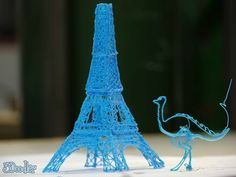 Kickstarter: 3Doodler - a 3D-printing pen which allows you to draw sculptures in the air, or construct 3D models from flat sheets traced on paper. Click to take a look, it's very clever.