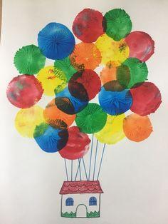 Art Drawings For Kids, Kids Artwork, Art For Kids, Diy Arts And Crafts, Diy Crafts For Kids, Fun Crafts, Toddler Art, Toddler Crafts, Ballon Painting