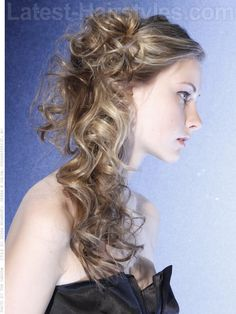 Cascading Curls Wedding Hairstyle