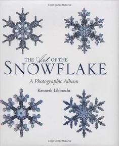 The Art of the Snowflake: A Photographic Album by Kenneth Libbrecht.  Splendid, fascinating, captivating. Not enough adjectives to describe the beauty of snowflakes. Intricate photographic detail proves no 2 are alike. If God can do this with snowflakes, it reminds me what He has done with us. A good book to peruse whenever you're feeling faithless + hopeless.