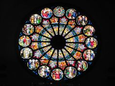 Our Lady of Perpetual Help Catholic Church; Oklahoma City.  Stained glass window.  Fall of 2011.