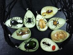 REAL SCORPION NECKLACE PENDANT insect bug jewelry creepy gothic punk surfer