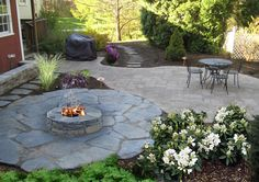 brick fire pit designs | ... landscaping designs of patios, fire pits, natural stone | Design Works