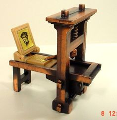 Printing Press Miniature Diecast Antique Style 1/24 Scale G Diorama Accessory   eBay