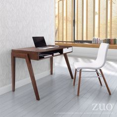 Our Linea office desk, made with solid fir and MDF by Zuo Modern, has a large open storage area plus a storage drawer. Bring it to your home office! Modern Office Desk, Home Office Desks, Home Office Furniture, Furniture Design, Office Nook, Small Office, Furniture Ideas, Smart Furniture, Office Table