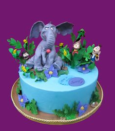 Marvelous Horton Hears a Who Cake  made by A Wish and a Wisk Cakes