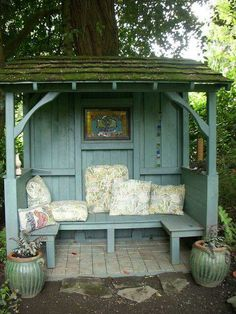 Garden bench and roof
