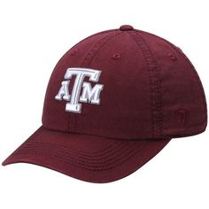the latest 4a3f6 35223 Men s Top of the World Maroon Texas A M Aggies Solid Crew Adjustable Hat