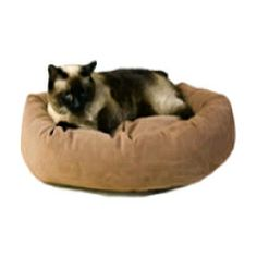Microfiber Bagel Bed for Cats Price: $55.00 http://www.nipandbones.com/microfiber-bagel-bed-for-cats.html