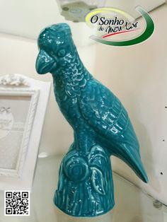 PAPAGAIO DECORATIVO (cerâmica)