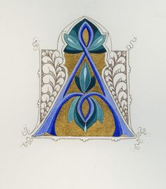 medieval illumination calligraphy font - Google Search