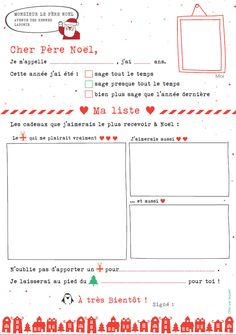 Free printable template for a letter to santa in french fill in the la lettre au pre nol de a qui s spiritdancerdesigns Images