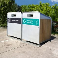 This Wheelie bin unit is available in a 660 or 1100 litre version, perfect for hiding large unsightly wheeled bins and creating a recycling point.  Part of the Omega range, the Mega Cycle features the tubular steel frame that runs throughout this suite of products.  Available with steel side panels or Iroko hardwood sides as shown here to give a modern contemporary look.